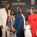 """HOLLYWOOD, CALIFORNIA - JULY 09: (C -R) Tracy Morgan, Maven Sonae Morgan, and Megan Wollover attend the World Premiere of Disney's """"THE LION KING"""" at the Dolby Theatre on July 09, 2019 in Hollywood, California. (Photo by Jesse Grant/Getty Images for Disney)"""