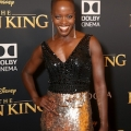 """HOLLYWOOD, CALIFORNIA - JULY 09: Florence Kasumba attends the World Premiere of Disney's """"THE LION KING"""" at the Dolby Theatre on July 09, 2019 in Hollywood, California. (Photo by Jesse Grant/Getty Images for Disney)"""