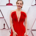 Oscar® nominee Amanda Seyfried arrives on the red carpet of The 93rd Oscars® at Union Station in Los Angeles, CA on Sunday, April 25, 2021.
