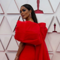 Angela Bassett arrives on the red carpet of The 93rd Oscars® at Union Station in Los Angeles, CA on Sunday, April 25, 2021.