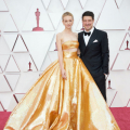 Oscar® nominee Carey Mulligan and Marcus Mumford arrive on the red carpet of The 93rd Oscars® at Union Station in Los Angeles, CA on Sunday, April 25, 2021.