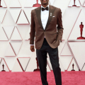Oscar® nominee Charles D. King arrives on the red carpet of The 93rd Oscars® at Union Station in Los Angeles, CA on Sunday, April 25, 2021.