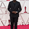Oscar® nominee Daniel Kaluuya arrives on the red carpet of The 93rd Oscars® at Union Station in Los Angeles, CA on Sunday, April 25, 2021.