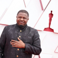 Oscar® nominee Dernst Emile II arrives on the red carpet of The 93rd Oscars® at Union Station in Los Angeles, CA on Sunday, April 25, 2021.