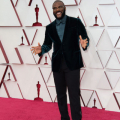 Gene Hersholt Award winner Tyler Perry arrives on the red carpet of The 93rd Oscars® at Union Station in Los Angeles, CA on Sunday, April 25, 2021.
