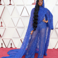 Oscar® nominee H.E.R. arrives on the red carpet of The 93rd Oscars® at Union Station in Los Angeles, CA on Sunday, April 25, 2021.