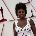 Oscar® nominee Viola Davis arrives on the red carpet of The 93rd Oscars® at Union Station in Los Angeles, CA on Sunday, April 25, 2021.