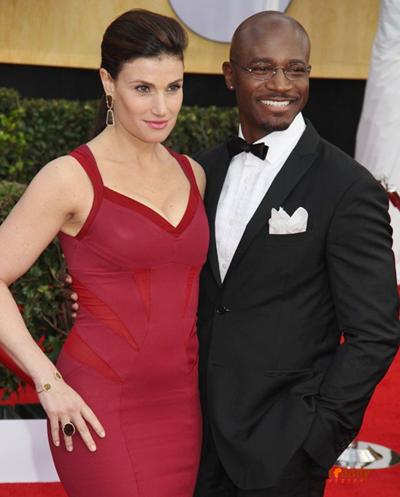 Taye Diggs with wife Idina Menzel