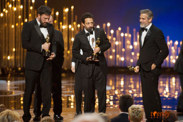 Best motion picture of the year for Argo is Ben Affleck, Grant Heslov and George Clooney