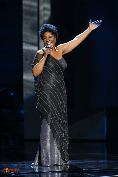 Gladys Knight performing on stage at The Shrine Auditorium - Photo by Jesse Grant