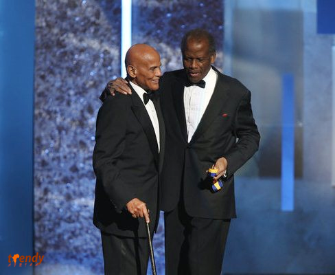 l-r - Harry Belafonte, Sidney Poitier Photo by Jesse Grant