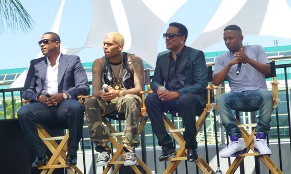 Chris Tucker, Chris Brown, Charlie Wilson and Kendrick Lamar