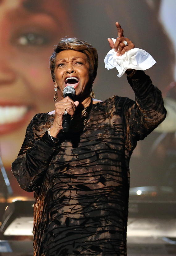 Cissy Houston performing a Whitney tribute at the 2012 BET Awards