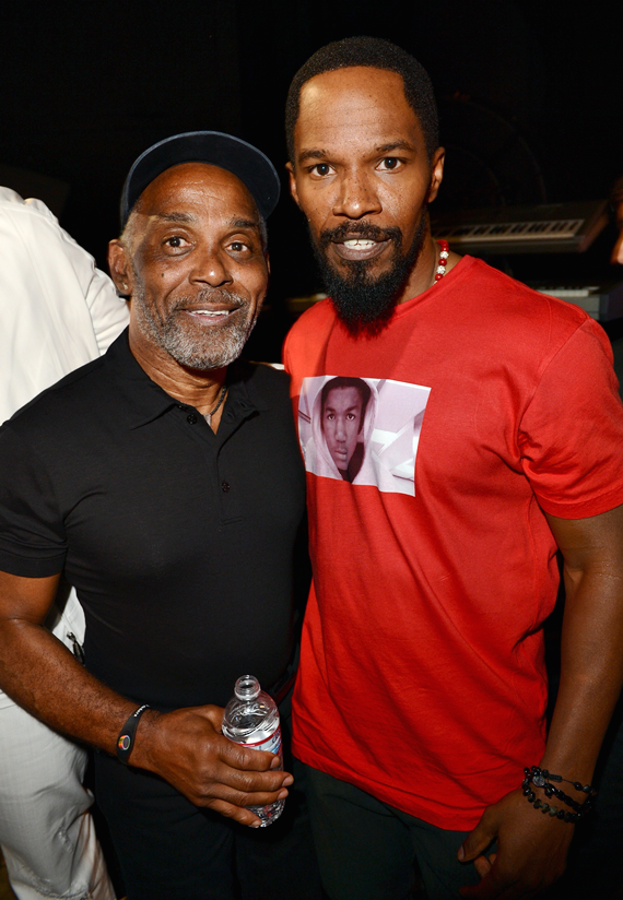 Frankie Beverly of Maze and Jamie Foxx at the 2012 BET Awards
