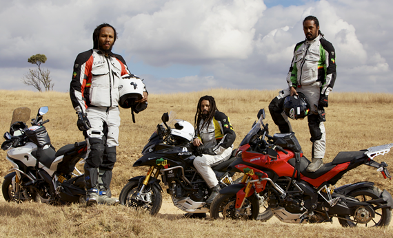 Ziggy, Rohan and Robbie Marley in South Africa