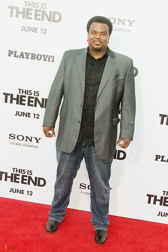 Craig Robinson at the Hollywood premiere of This Is The End - Royalty Image