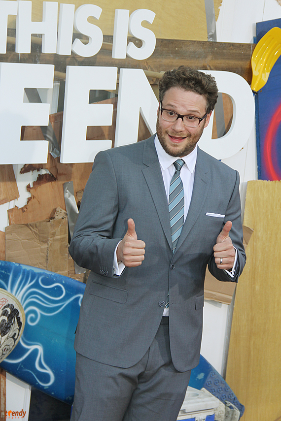 Seth Rogen at the Hollywood premiere of This Is The End - Royalty Image