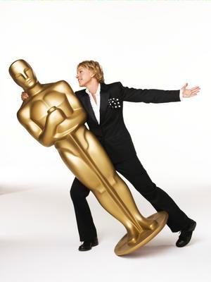 Ellen DeGeneres  with Oscar