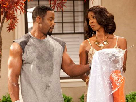 Michael Jai White as Marcus and Tasha Smith as Angela in For Better or Worse