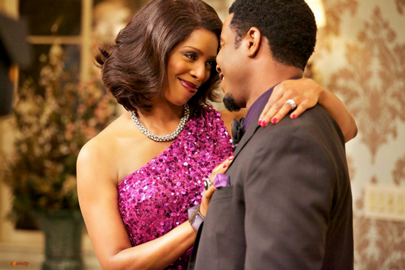 Tasha Smith and Michaeal Jai White in season two of For Better otr Worse