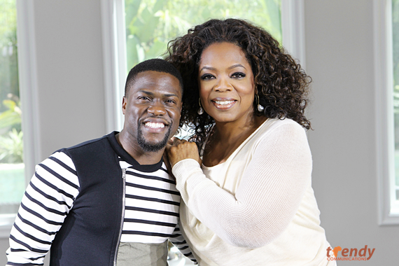 Kevin Hart and Oprah Winfrey - Courtesy of Harpo Studios Inc.