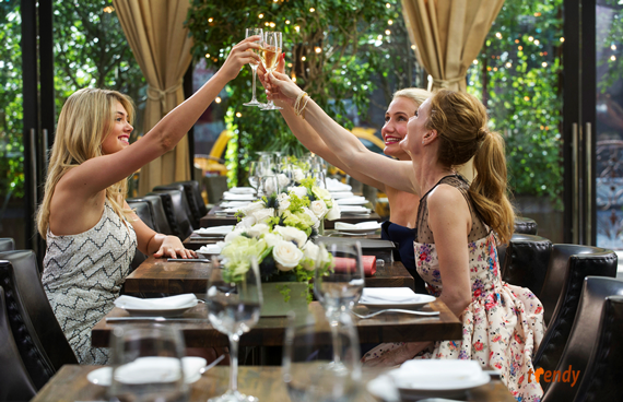Amber (Kate Upton, left),Carly (Cameron Diaz) and Kate (Leslie Mann) toast their friendship in The Other Woman  - Photo credit Barry Wetcher