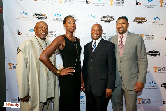Louis Gossett Jr, WNBA Lisa Leslie, AFC President Kevin Chavous, Jalen Rose