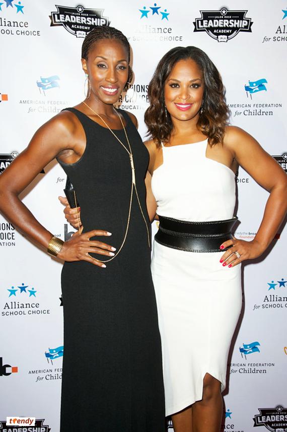 WNBA player Lisa Leslie and Laila Ali