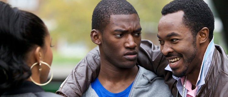 Actors Malachi Kirby and O.C. Ukeje in a scene from Gone Too Far