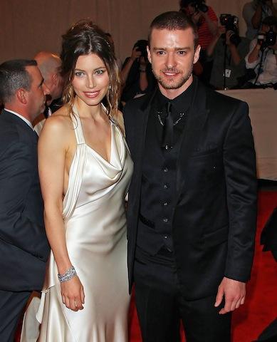 Jessica Biel and Justin Timberlake at the Metropolitan Museum of Art Costume Institute Gala. (NYC)