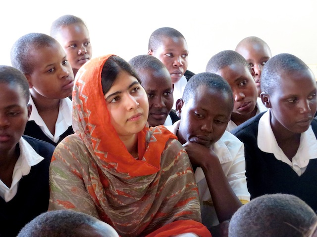 Malala Yousafzai at the Kisaruni Girls School in Massai Mara, Kenya. May 26, 2014. Photo courtesy of Fox Searchlight Pictures.© 2015 Twentieth Century Fox Film Corporation All Rights Reserved