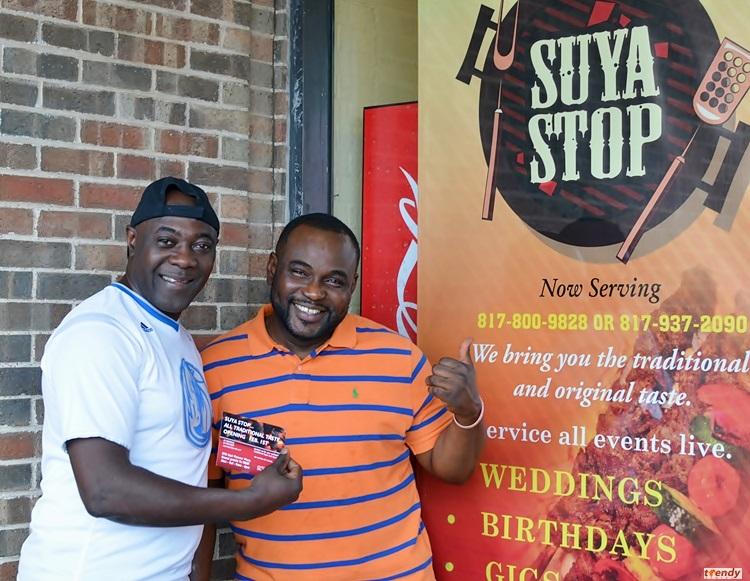 Tosan with Suya Stop Proprietor; Adegboyega Wuraola