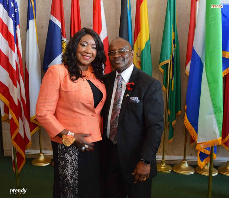 Honorary Consul Patrick R. Jackson and Wife.