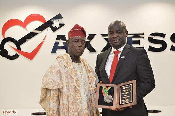 John Olajide with Dad; Daniel Olajide.