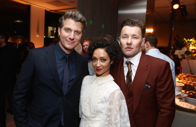 Director Jeff Nichols, Ruth Negga and Joel Edgerton seen at the Los Angeles Premiere of Focus Features' LOVING after party at the Samuel Goldwyn Theater on Thursday, Oct. 20, 2016, in Beverly Hills, Calif. (Photo by Steve Cohn/Invision for Focus Features/AP Images)