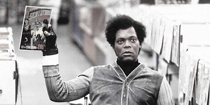 Samuel Jackson's character, Elijah/Mr. Glass, a rare-comic-book store owner