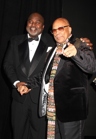 AAFCA co-founder Gil Roberston and Quincy Jones