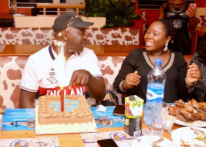 Tosan Aduayi at his birthday dinner