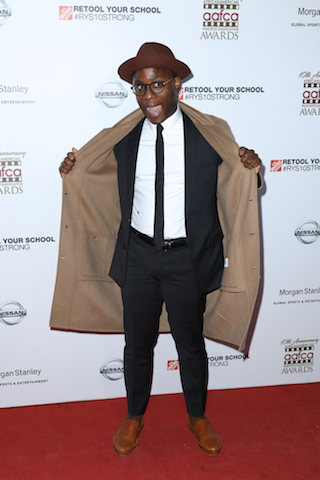 Barry Jenkins on the red carpet