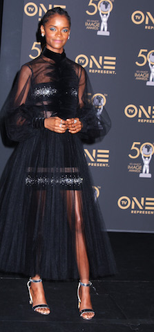 Letitia Wright receives an Outstanding Breakthrough Performance in a Motion Picture for Black Panther