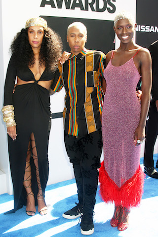 L-R: Melina Matsoukas, Lena Waithe & Jodie Turner-Smith