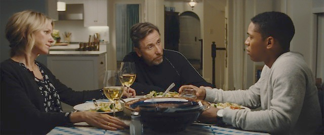 Amy Edgar (Naomi Watts), Luce (Kelvin Harrison Jr.), and Peter Edgar (Tim Roth) in LUCE. Courtesy of NEON