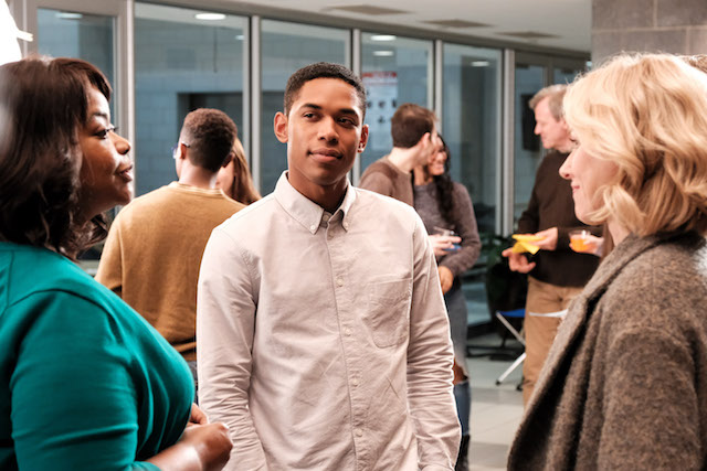 Harriet Wilson (Octavia Spencer), Luce (Kelvin Harrison Jr.) and Amy Edgar (Naomi Watts) in LUCE