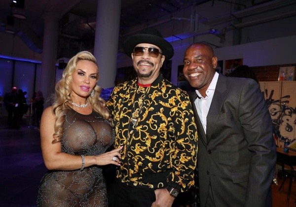 Coco and Ice-T with Unik Ernest (right)