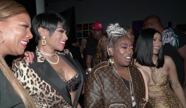 (l-r)- Queen Latifah, Pepa, Missy, and Cardi B.