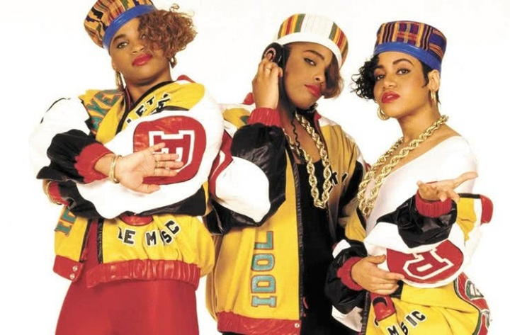 Salt-N-Pepa with DJ Spinderella (C) in 1987