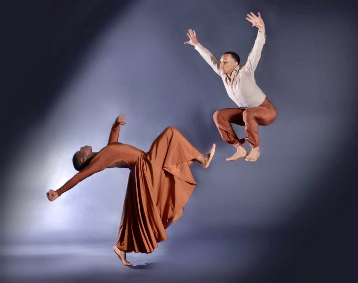 """DBDT dancers Lailah LaRose and Charles Michael Patterson in """"Beams From Heaven."""" Photograph by Brian Guilliaux"""