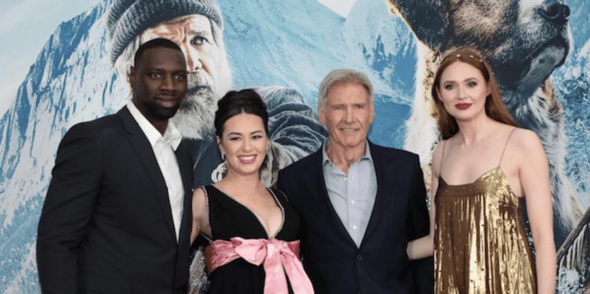 (L-R) Omar Sy, Cara Gee, Harrison Ford, and Karen Gillan