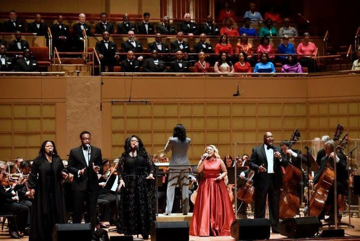 Project Unity and the Dallas Symphony Orchestra. Photograph courtesy of Dallas Symphony Orchestra