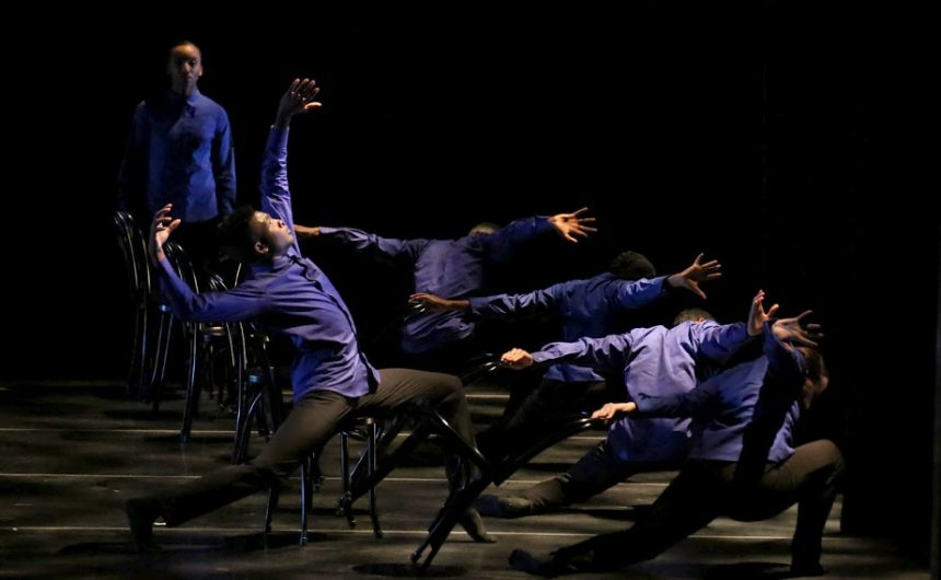 DBDT: Encore! dancing Mirror of the Effigy choreographed by My'Kal J. Stomile. Photograph by Amitava Sarkar